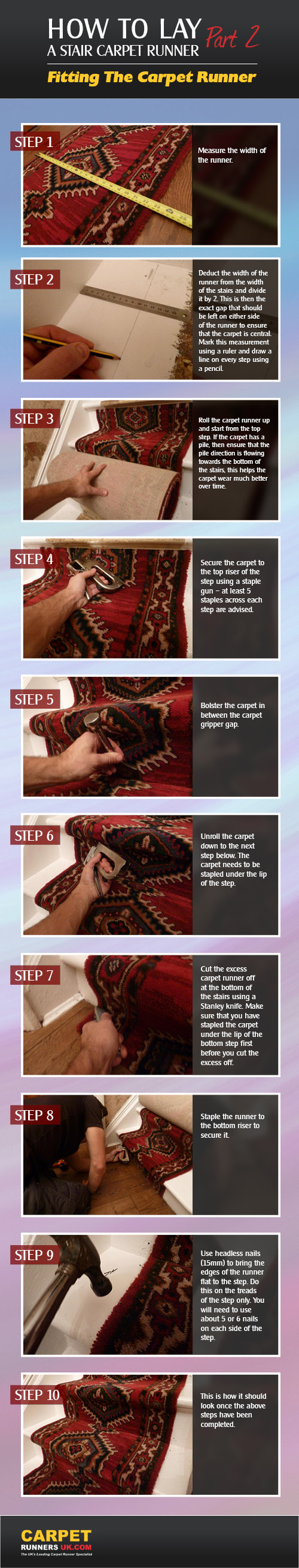 How to Fit a Stair Carpet Runner
