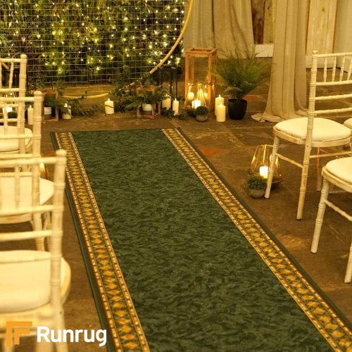 Cheops Green Wedding Aisle Runner