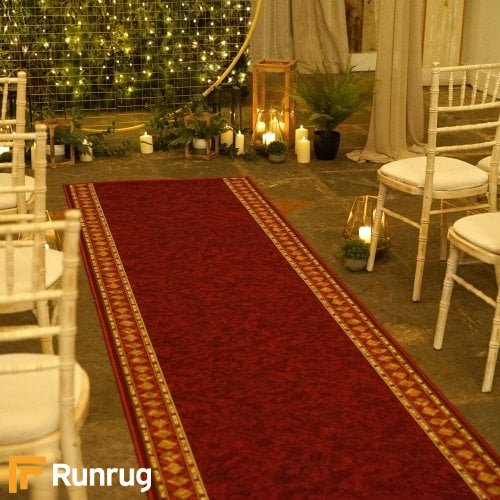 Cheops Red Wedding Aisle Runner