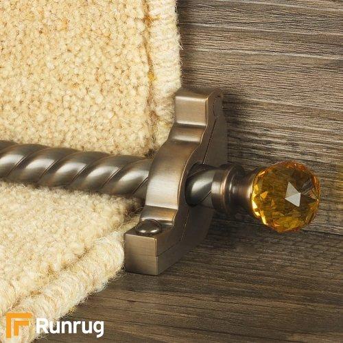 Crystal Antique Bronze Amber Spiral Stair Rod