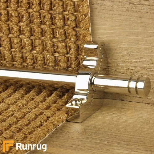 Premier Polished Nickel Finish Woburn Plain Stair Carpet Runner Rods