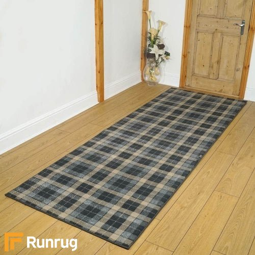 Stirling Anthracite/Beige Hallway Carpet Runners