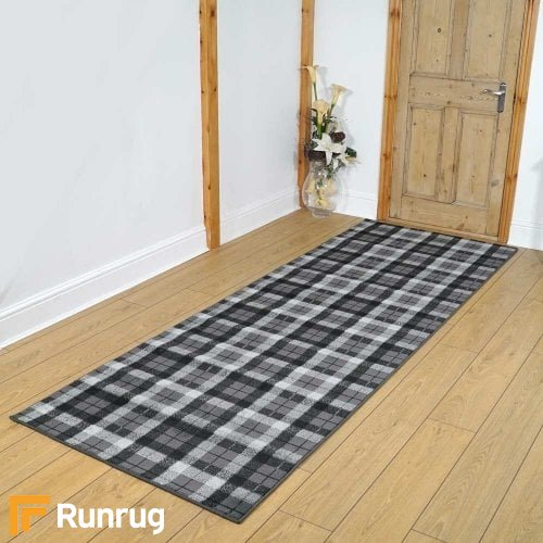Stirling Anthracite/Black Hallway Carpet Runners