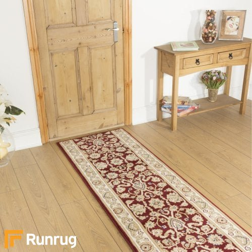 Valero Red Hallway Carpet Runners