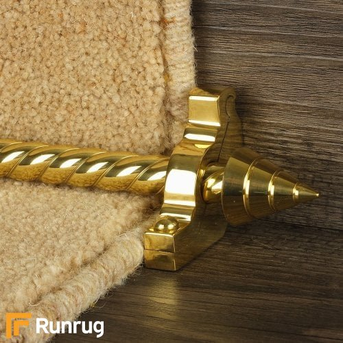 Vision Brass Arrow Spiral Stair Rod