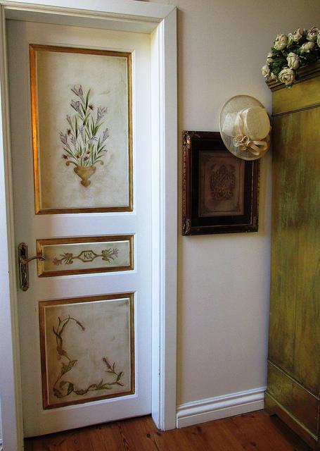 White painted hallway door