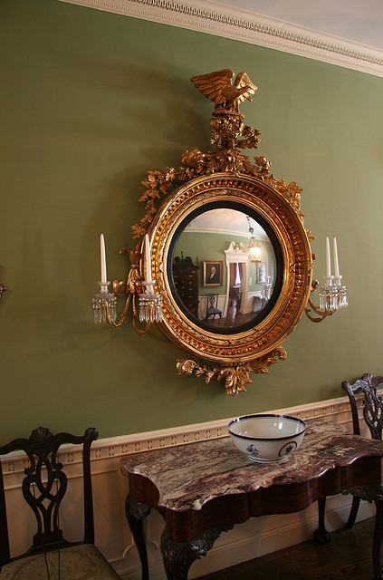 mirror for a dark and narrow hallway