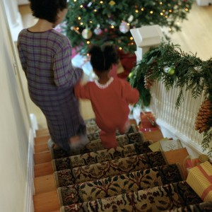 Christmas Morning Stairs