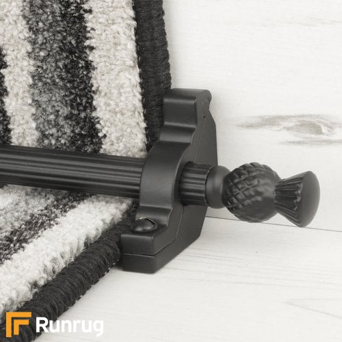 Country Black Arran Reeded Stair Rod