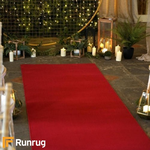 Plain Red Wedding Aisle Runner