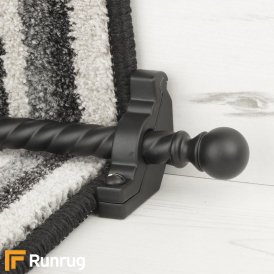 Country Black Balladeer Spiral Stair Rod