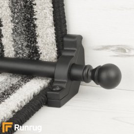 Country Black Balladeer Plain Stair Rod