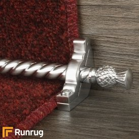 Country Brushed Chrome Arran Spiral Stair Rod