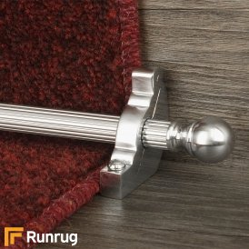 Country Brushed Chrome Balladeer Reeded Stair Rod
