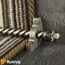 Country Pewter Bordeaux Spiral Stair Rod