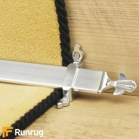 Royal Brushed Chrome Louis Stair Rod