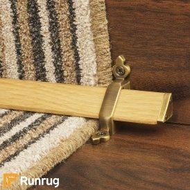 Tudor Antique Brass Light Wood Stair Rod