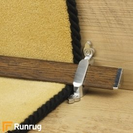 Tudor Brushed Chrome Dark Wood Stair Rod