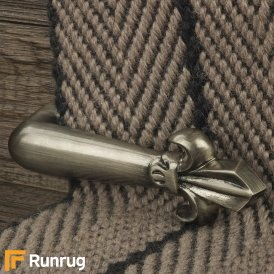 Victorian Stair Clip - Pewter (Pair) Stair Rod