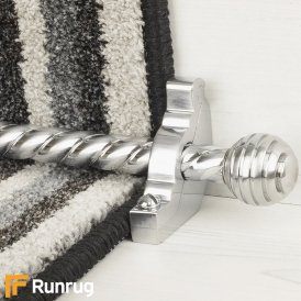 Vision Brushed Chrome Sphere Spiral Stair Rod