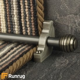 Vision Pewter Sphere Plain Stair Rod