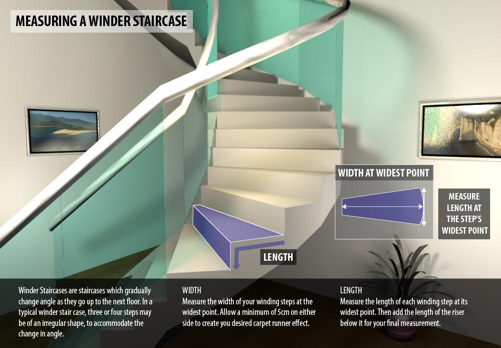 Measure Winder Staircase Stair Runner