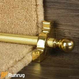 Country Brass Balladeer Reeded Stair Rod