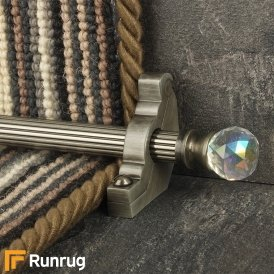 Crystal Pewter Rainbow Reeded Stair Rod