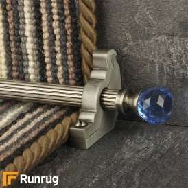 Crystal Pewter Sky Reeded Stair Rod