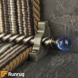 Crystal Pewter Sky Spiral Stair Rod