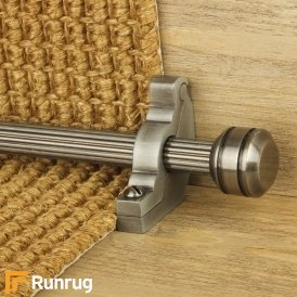 Vision Pewter Piston Reeded Stair Rod