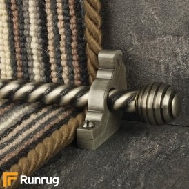 Vision Pewter Sphere Spiral Stair Rod