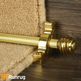 Vision Brass Sphere Reeded Stair Rod