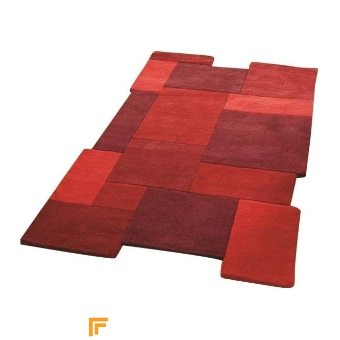 Abstract - Collage Red Rug