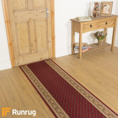 Acni - Red Hallway Carpet Runner