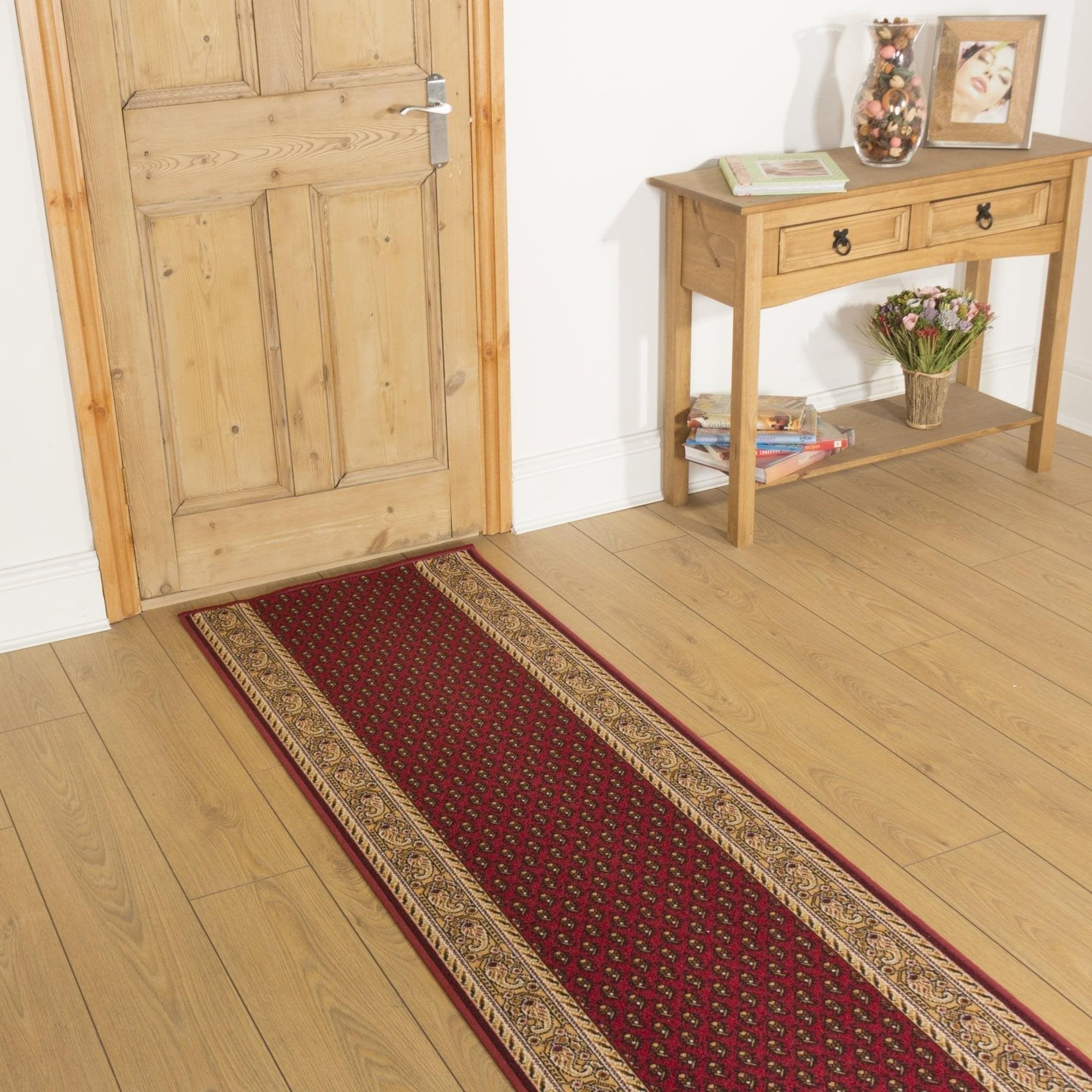 Red Hall Runner Rug - Acni - Carpet Runners UK