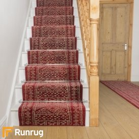 Afrikans Red Stair Runner