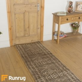 Afrikans Taupe Hall Runner