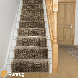 Afrikans Taupe Stair Runner