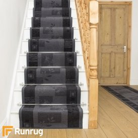 Agadir Graphite Stair Runner