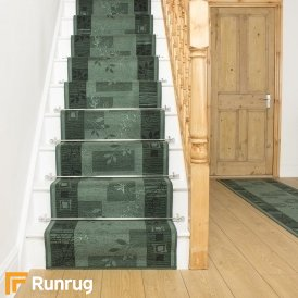 Agadir Green Stair Runner
