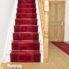 Agadir Red Stair Runner