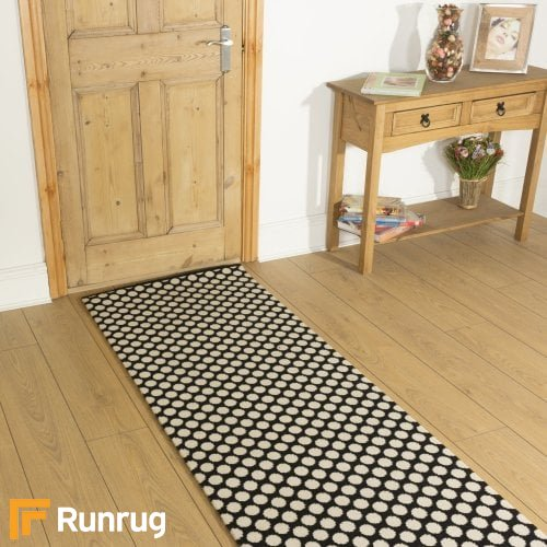 Alternative Flooring Quirky Dotty Black 7020 Hall Runner