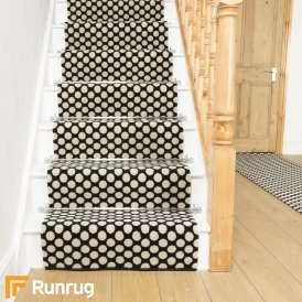 Quirky Dotty Black 7020 Stair Runner