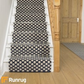 Quirky Dotty Blue 7024 Stair Runner