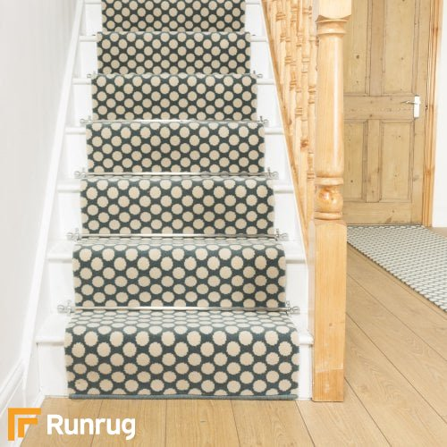 Alternative Flooring Quirky Dotty Duck Egg 7023 Stair Runner