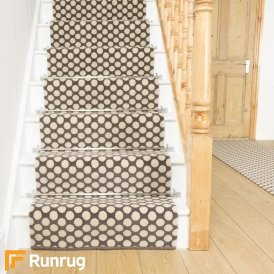 Quirky Dotty Grey 7021 Stair Runner