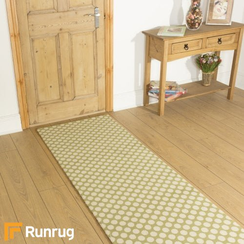 Alternative Flooring Quirky Dotty Lime 7027 Hall Runner