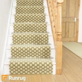 Quirky Dotty Lime 7027 Stair Runner