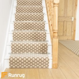 Quirky Dotty Natural 7022 Stair Runner